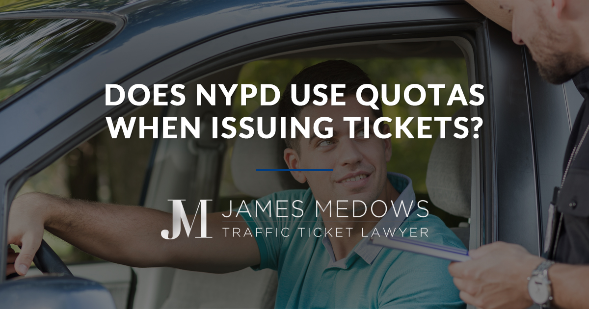 Does NYPD Use Quotas When Issuing Tickets?