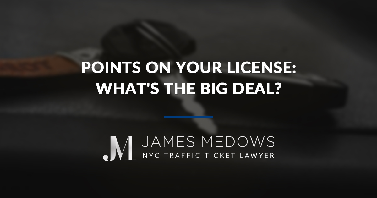 Points on Your License: What's the Big Deal?