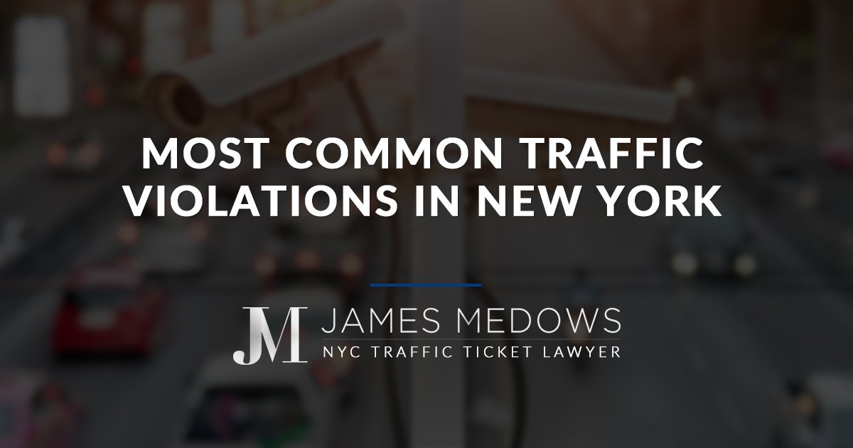 Most Common Traffic Violations in New York