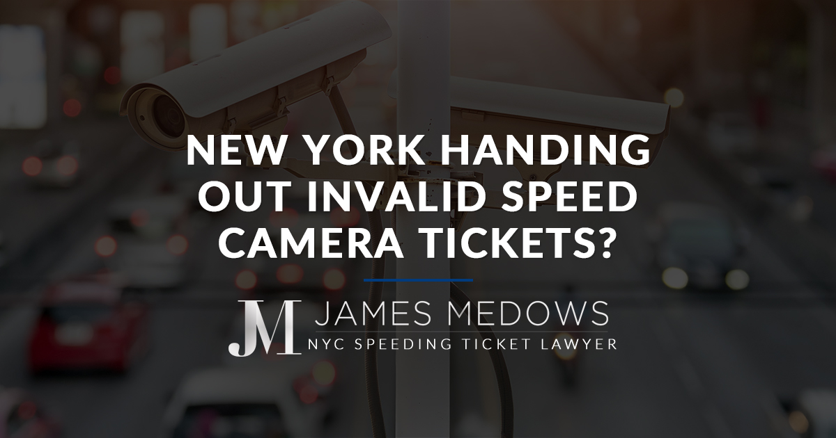 New York Handing Out Invalid Speed Camera Tickets?
