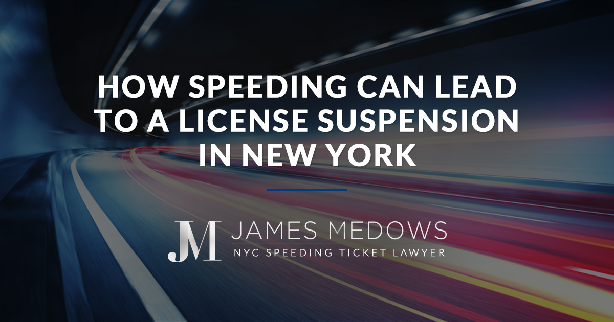 How Speeding Can Lead to a License Suspension in New York