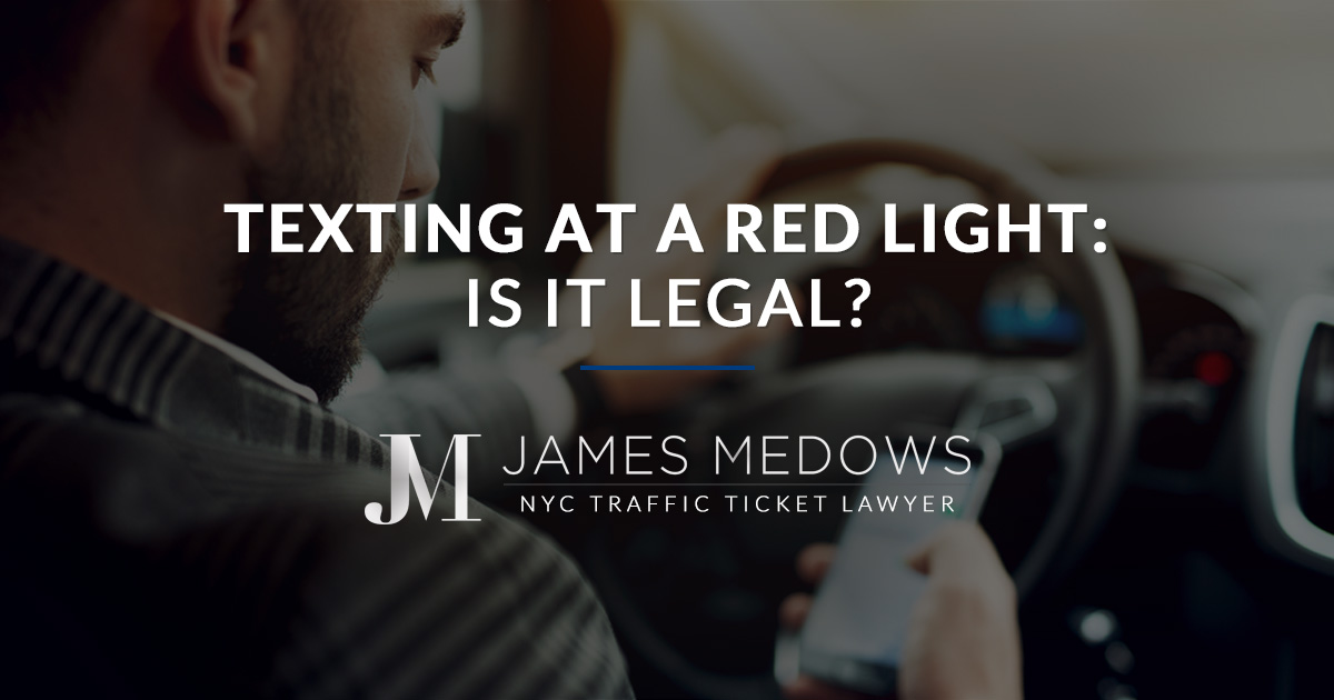 Texting at a Red Light: Is It Legal?