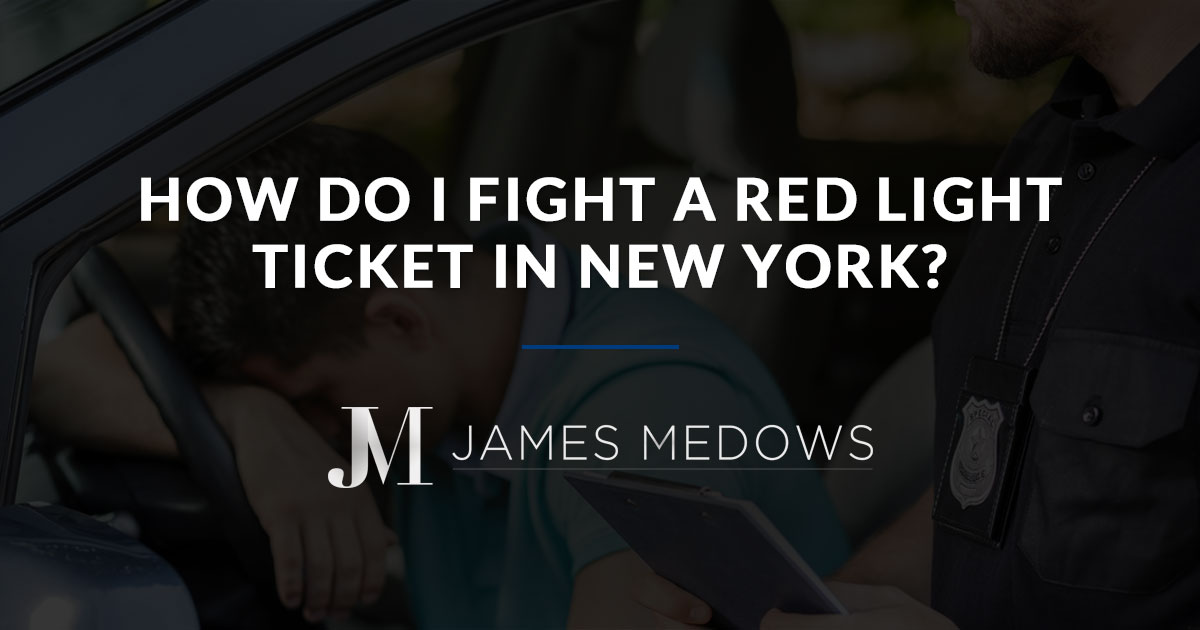 How Do I Fight a Red Light Ticket in New York?